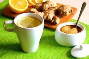 чай с имбирем фото