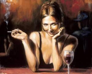 девушка в баре фото
