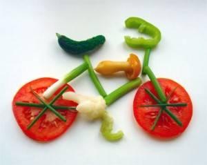 велосипед из овощей фото
