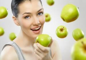 девушка яблоко фото
