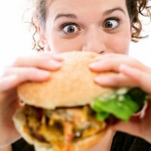 девушка бургер фото