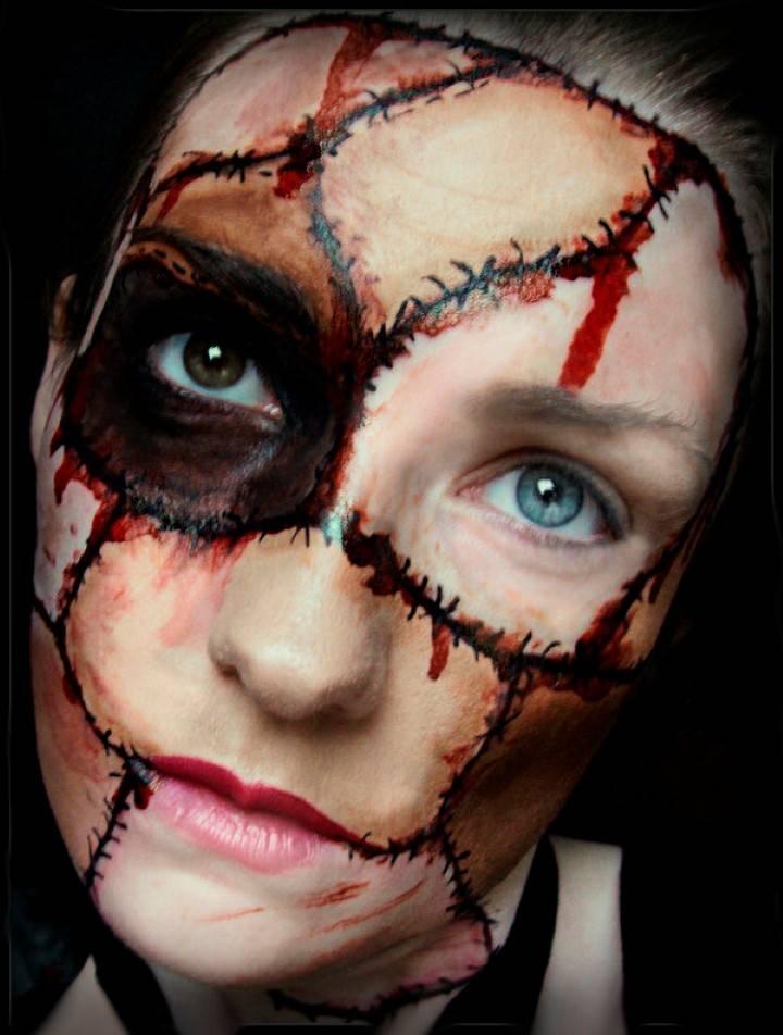 хэллоуин разрисованные лица фото